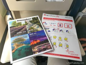 Meridiana Review onboard