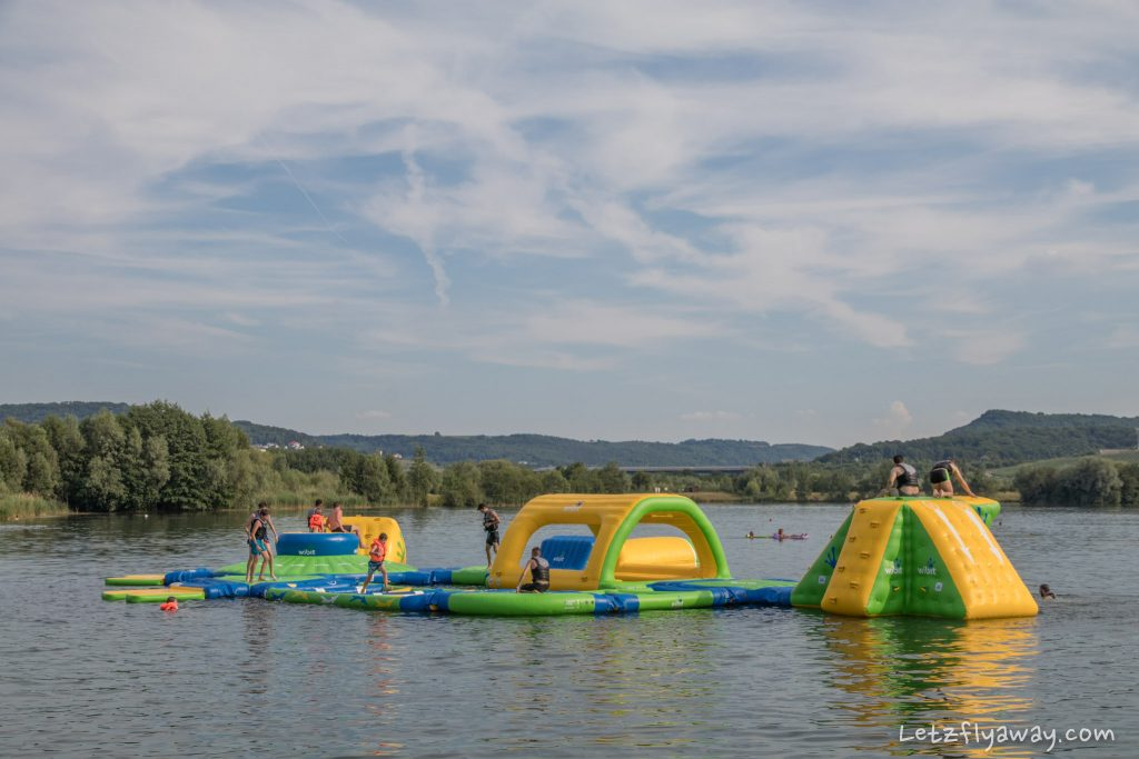 Remerschen lakes inflatable game structure