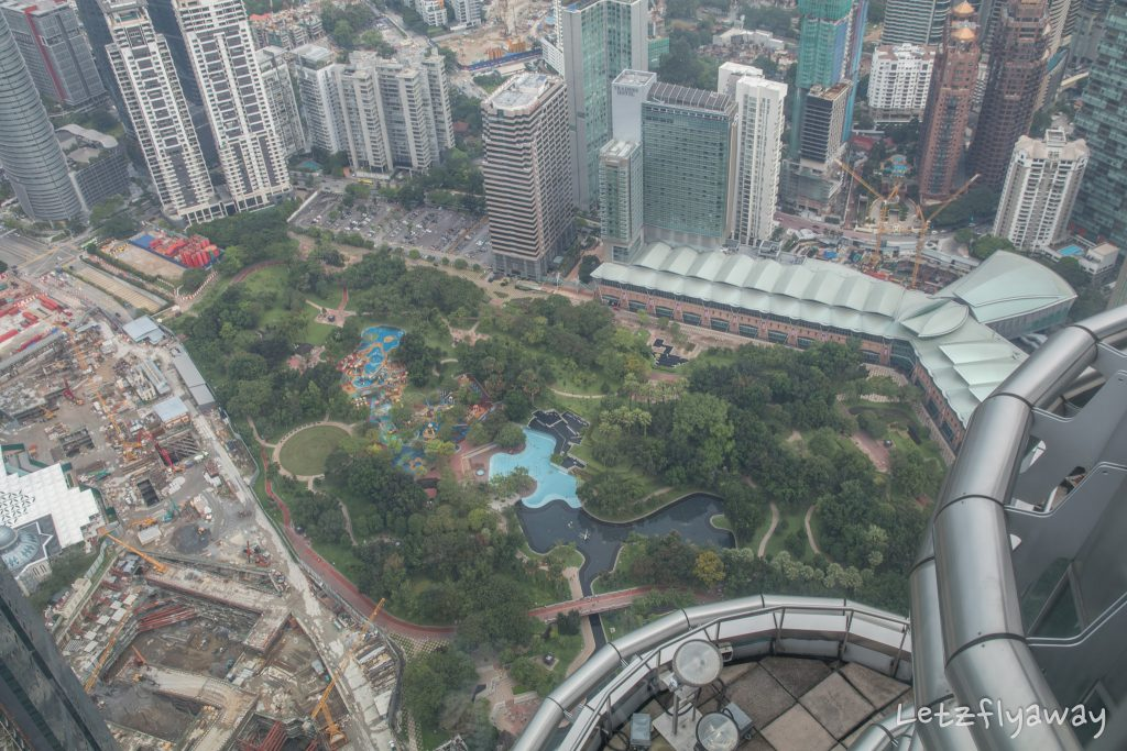 Klcc park from petronas towers