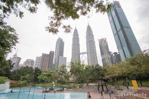 Kuala Lumpur with Kids klcc park wading pool