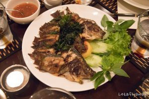 Sofitel Angkor self caught fish