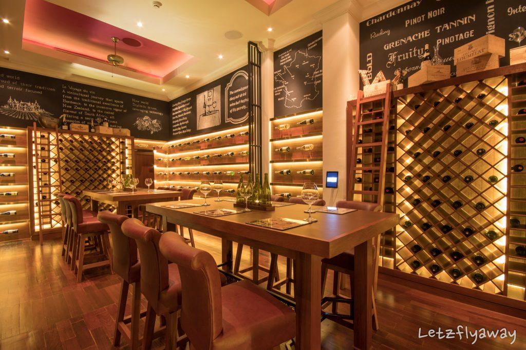 Sofitel Angkor wine cellar