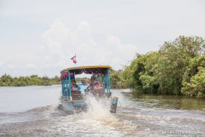 boat ride to the floating village kampong phluk