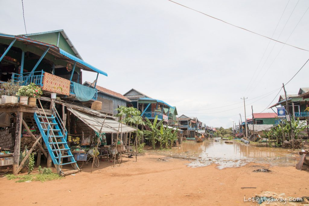 main street floating village of Kamphong Phluk