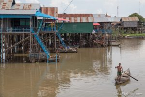 the floating village of Kamphong Phluk