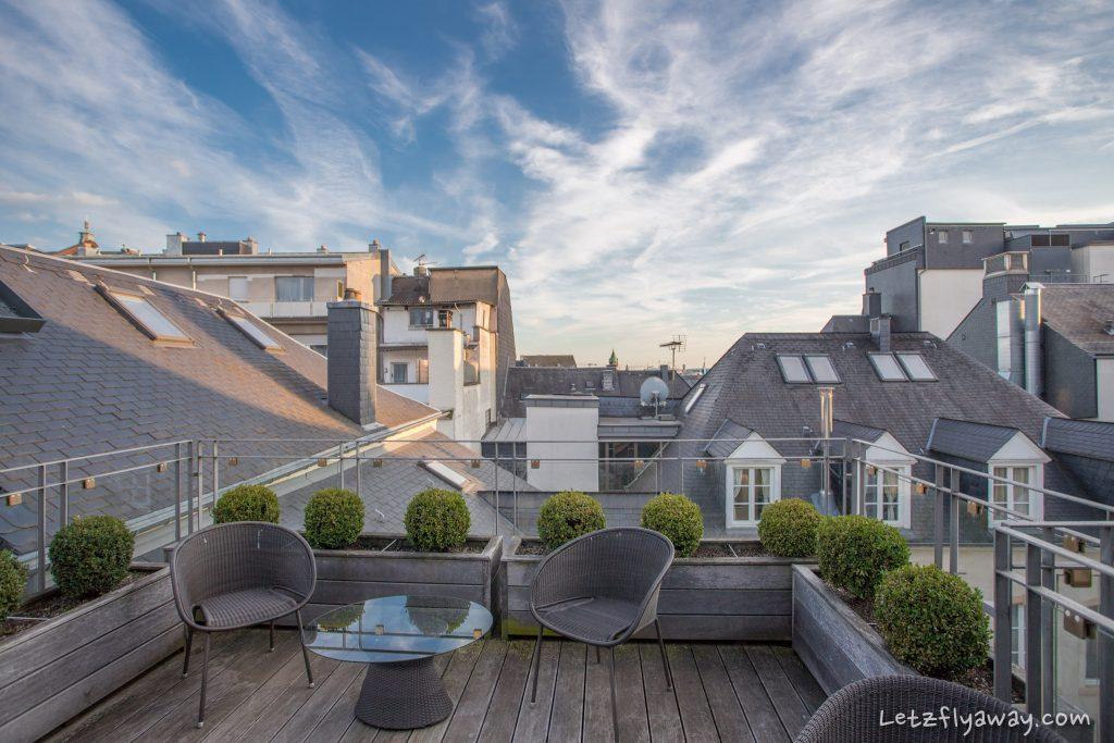 Hotel Le Place d'Armes Luxembourg terrace