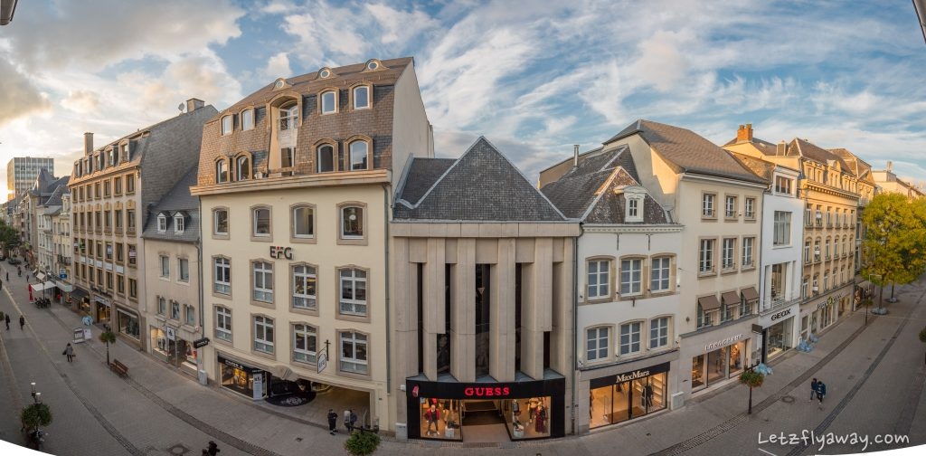 Hotel Le Place d'Armes Luxembourg grand rue view