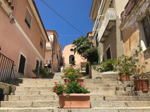 arzachena village stairs to santa lucia church