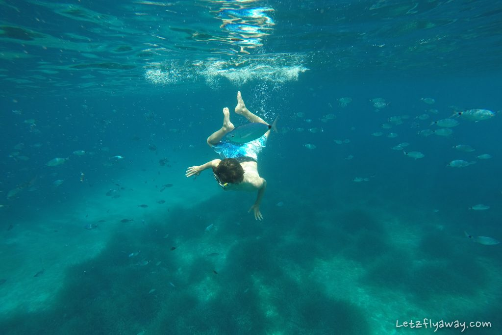 snorkelling with kids in Sardinia