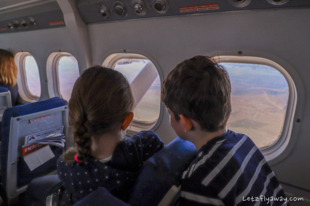children flying to Masai Mara