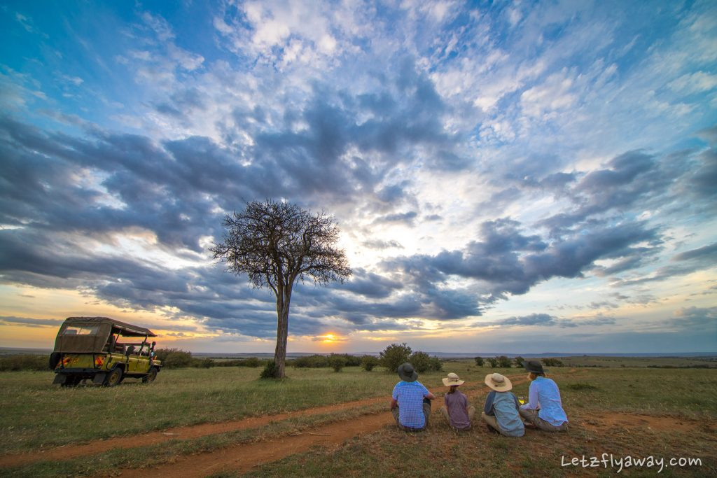 masai mara sundowner with kids