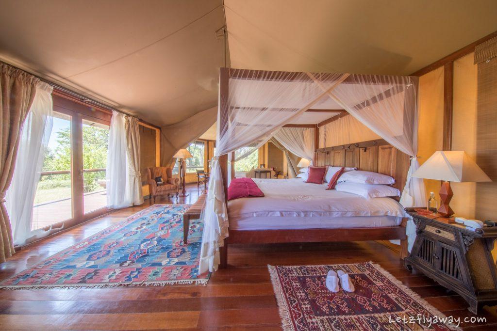 Kempinski Olare Mara bed