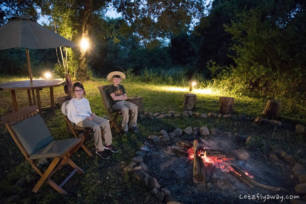 Kempinski Olare Mara campfire