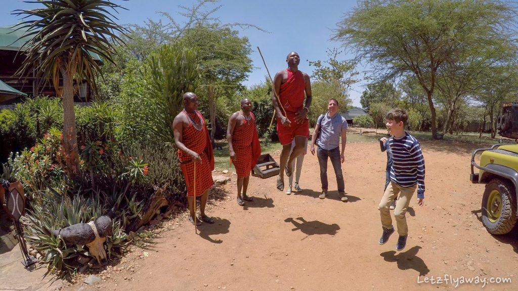 Kempinski Olare Mara Masai welcome dance