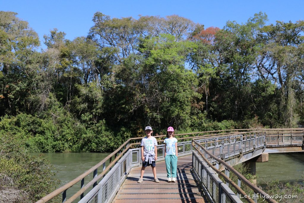 Iguazu Falls hike with Kids