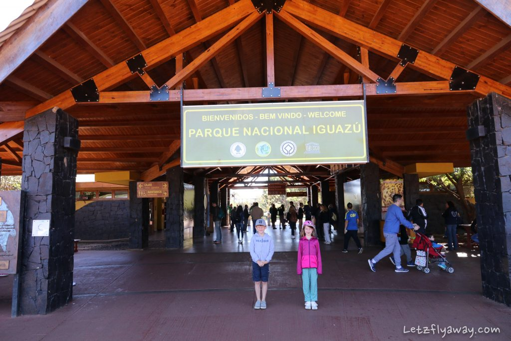 Iguazu Falls with Kids main entrance