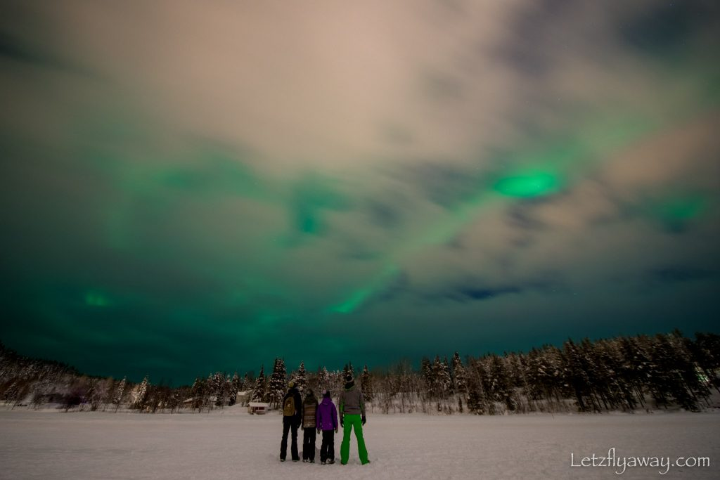 Levi with Kids northern light