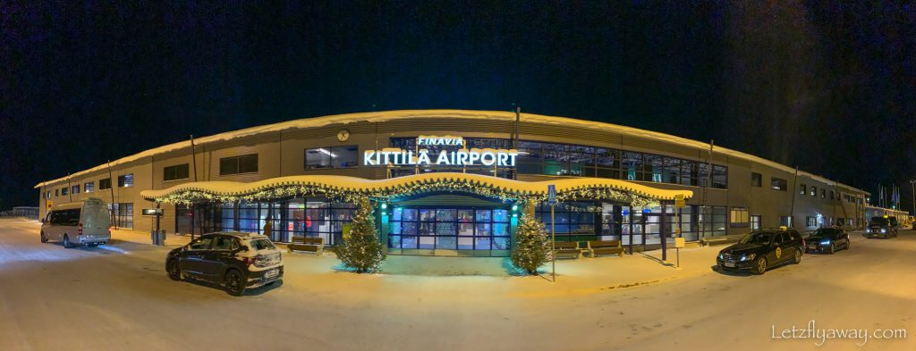 kittila airport with kids